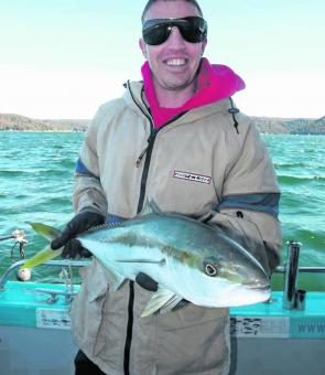 Despite the cold winds and water temperatures, there are plenty of kingfish to be caught.