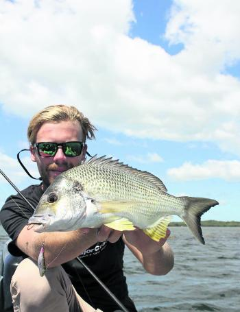 Zac Skyring with a bream on the new Megabass Flying-X.