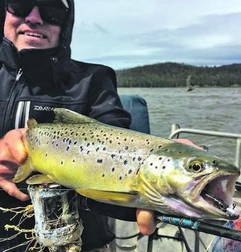 Don Cummings came across from Sydney to sample some trout action. His gear left a little bit to be desired.