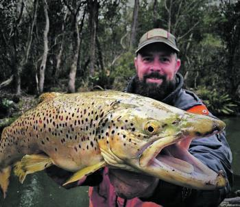 Ben Hoggins with a buck brown trout – that should be a great memory!