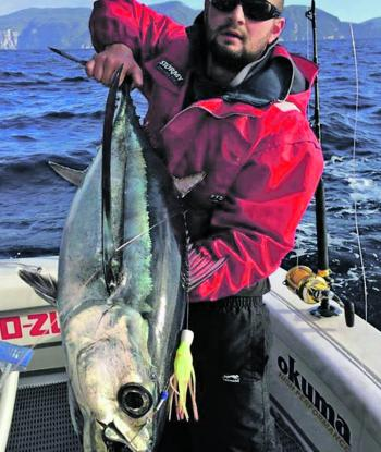 Jack Guard with a solid Tasmanian albacore.