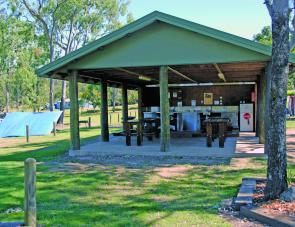 A big camp kitchen is a feature of the open - non powered - camping area.