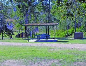 Shelter sheds and bbq's are provided for camp ground occupants.