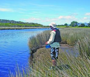 Andy 'Yapper' Howell casts into one of the more 'hidden' north east estuaries in search of a sea run brown trout