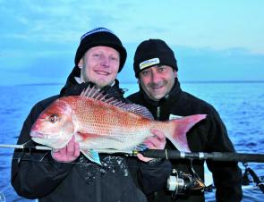 Early morning and an early season snapper is enough to make anyone smile.