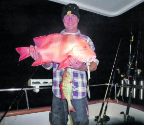 Night-time red emperor and red throat emperor caught on single hooks on a double dropper paternoster rig.