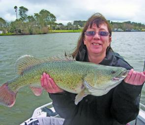 Nerylee Smith's personal best 72cm Murray cod.
