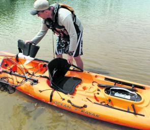 The electric motor and battery can be removed to make it a nice paddling craft.