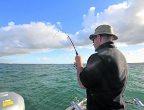 Slower taper rods make hook setting much easier and keep the fish connected right to the boat.