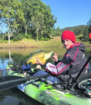 Trolling lures is a great way to find fish if you don't have a sounder on your kayak.