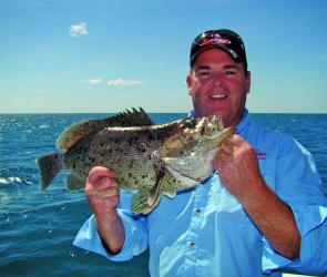 Jason Kennedy TV filmed aboard Dragon Lady Charters recently and caught this blue cattle dog cod.