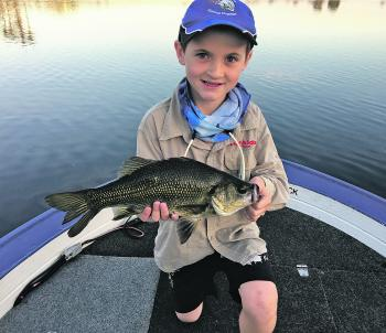 Dane Corbin cracked his PB with this 40cm bass.