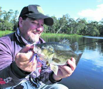 Bass have been caught in nearly all of the Gippy Lakes streams and spinnerbaits have been one of the standout lures.