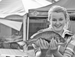 Claudia Shelton with a ripper 1.26kg bream from the Glenelg River.