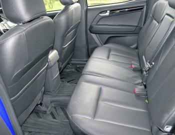 Rear passenger room is a plus in the D-Max four door utility. Even really tall drivers will have room to stretch out.