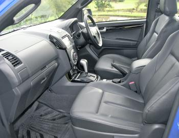 The D-Max X-Runner's all -leather seating provides plenty of comfort and support on long runs.