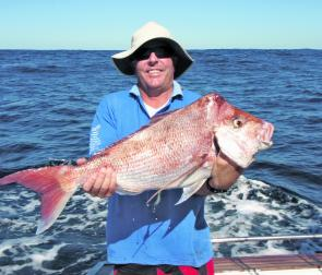Mark Morland with a decent snapper caught while float-lining.
