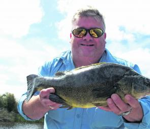 A 50cm golden perch taken over summer from a southwestern lake on a Pontoon 21 Greedy Guts minnow lure.