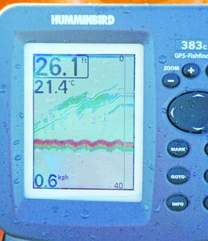 The Humminbird 383C is very easy to read, even in bright sunlight.