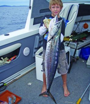 Deon Danowski caught his first Spanish near Keppel recently.