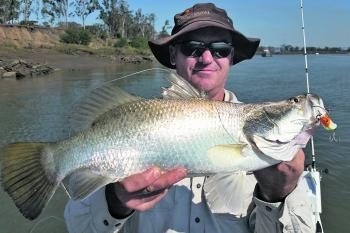 Mark Thompson with a Rocky City winter barra.