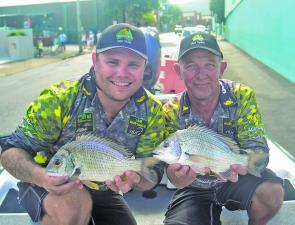 Team Austackle cranked each day to catch their bream and claim victory in the Tinny and Tackle Show BREAM Invitational.