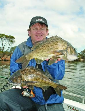 VFM contributor Mark 'Gerka' Gercovich with some cracking lower Mitchell River bream.