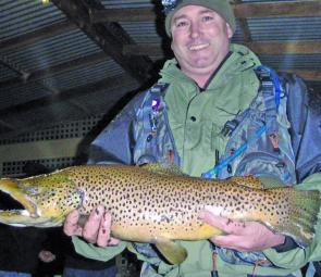 Russell Fisher's 5lb brown trout from Eildon Pondage.
