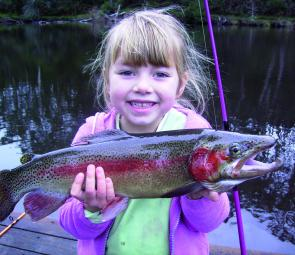 Kirra Ward's rainbow trout from Lake Jubilee at Daylesford.