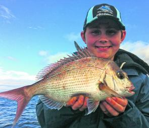 Young Joshua Sheill with a fat estuary red.