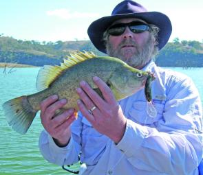 Barry Gill, of Wallerawang, caught this nice Glenbawn golden on a home-made lure.