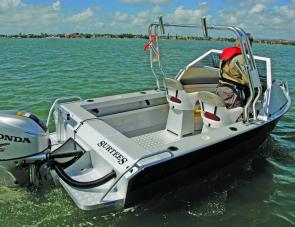 The size of the Surtees cockpit makes this craft very angler friendly.