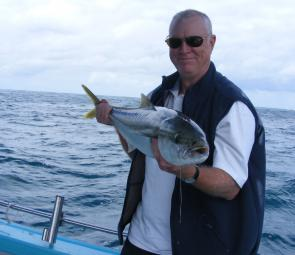 Kingfish just like this are just waiting. This one was caught off Whale Beach Headland.