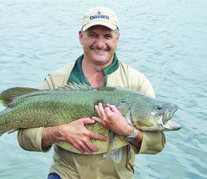 Mick Henare boated this Murray Cod at Cooby Dam. The monster fish took a Come in Spinner lure trolled on 8lb line.