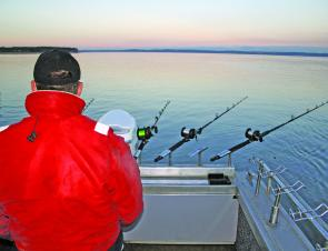 Rod holders are available in a wide range of styles. When snapper fishing the more of a spread you can get the better.