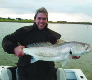 Trolling a live mullet rigged with a stinger hook is a great way to target mulloway.