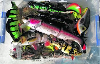 Storing swimbaits in kitchen storage is a great way to house plenty of baits with little fuss and cost.