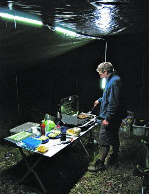 The Korr Camp Light kit turns night into day and with the rigging options that are available you can pretty much have light wherever you want it and at the strength you want it.