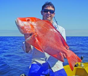 Rob Devlin was pleased with his red emperor caught while fishing the 12 Mile Reef.