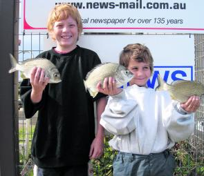 Anthony McCrae, Trent Anthony and a trio of bream.
