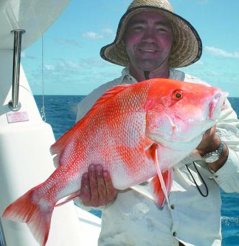 Craig with a nice red emperor that managed to avoid the sharks!
