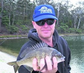 Scott France with an average Tyers bream taken on local prawn.