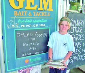 Dylan Foster got some quality whiting from the Logan River near Marks Rocks.