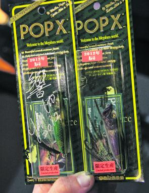 Two Yuki Ito signed limited-edition Megabass Pop Xs. For a Megabass junkie, it's like holding the crown jewels.