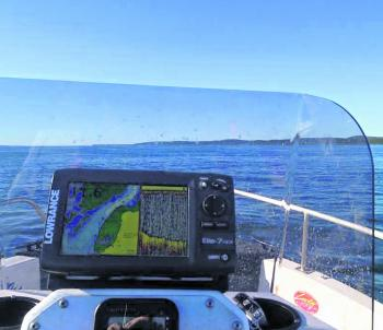 A sounder and GPS is something you really shouldn't go offshore without, particularly in a small boat.