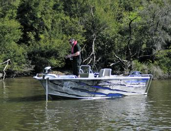 The Savage 455 Scorpion is well suited to being used as a casting platform.