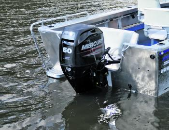 The Mercury 60hp 4-stroke CT motor was a great match for the Scorpion.