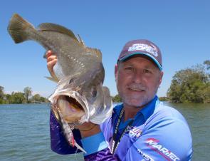 Chris Blanch trolled up this great mulloway in the Hastings River.