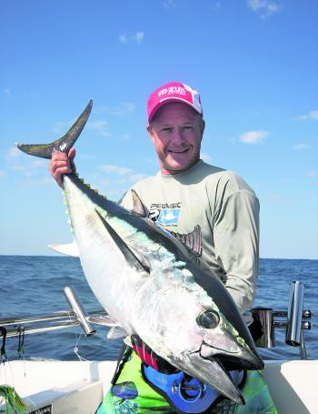 Smaller sized tuna don't have to be hit with such heavy tackle, but you still do need to ensure your rigging is 100%
