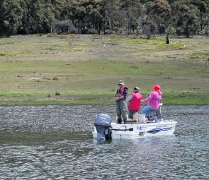 Woods Lake is a great boat fishing destination early in the season, especially on the western side.